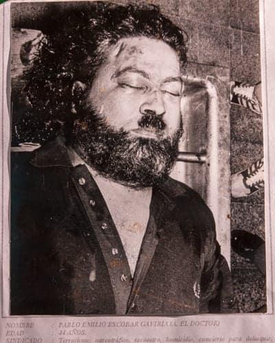 Pablo Escobar last photo