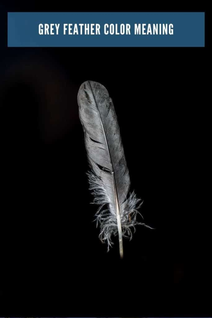 grey feather meaning