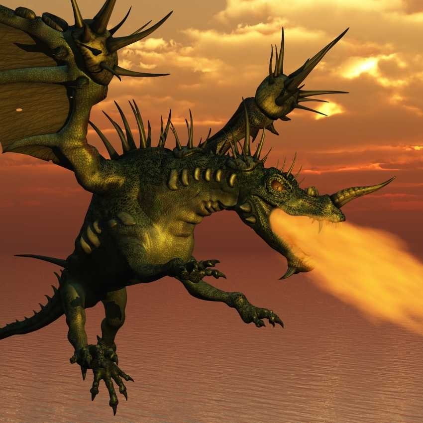 Dragon represents fire