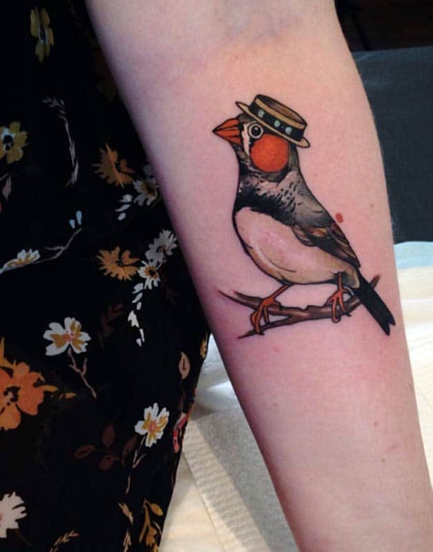finch tattoo meaning