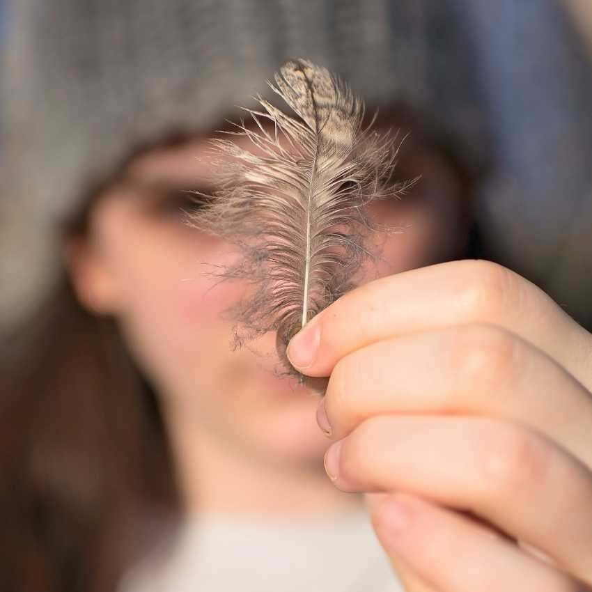 gray feather spiritual meaning